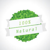 100% natural eco sign — Stock Vector