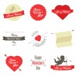 Set of Valentine's Day labels and badges — Stok Vektör