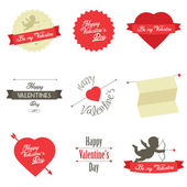 Set of Valentine's Day labels and badges — ストックベクタ
