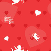 Bright red Valentine's Day seamless pattern — Vector de stock