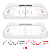 Isometric ice hockey rink — Stock Vector