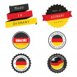 Made in Germany labels, badges and stickers — Stock Vector