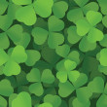 St. Patrick's Day shamrock seamless background pattern — Stock Vector