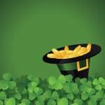 St. Patrick's Day festive frame — Stock Vector