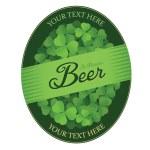 St. Patrick's Day custom beer label — Stock Vector