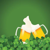 Saint Patrick's Day festive frame with beer — Stock Vector