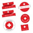 Vettoriale Stock : Swiss made labels, badges and stickers