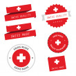 Swiss made labels, badges and stickers — Stock Vector