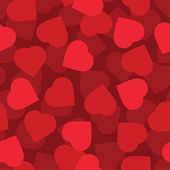 Red hearts seamless background — Stock Vector