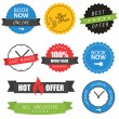 Stock Vector: Set of labels and badges for hotels