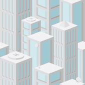 Nahtlose Hintergrundmuster mit Wolkenkratzern — Stockvektor