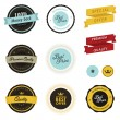 Set of vintage sale labels, badges and stickers — Stok Vektör
