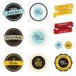 Set of vintage sale labels, badges and stickers — Stock Vector