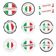 Made in Italy. Set of labels and badges — Stock Vector #18649809