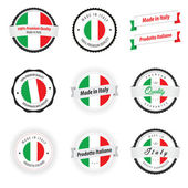 Gemaakt in italië. set etiketten en badges — Stockvector