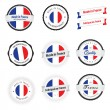 Stock vektor: Made in France. Set of labels, badges and stickers