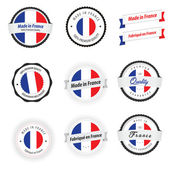 Made in France. Set of labels, badges and stickers — Stockvector
