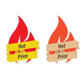 Set of 2 hot price labels — Vecteur