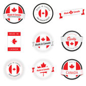 Made in Canada labels, badges and stickers — Stock Vector