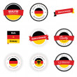 Vettoriale Stock : Made in Germany labels and badges