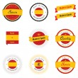Made in Spain labels and badges — Stock Vector