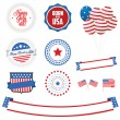 Vector de stock : Set of Independence Day design elements