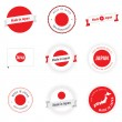 Made in Japan labels and badges — Stockvectorbeeld