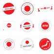 Made in Japan labels and badges — Imagen vectorial