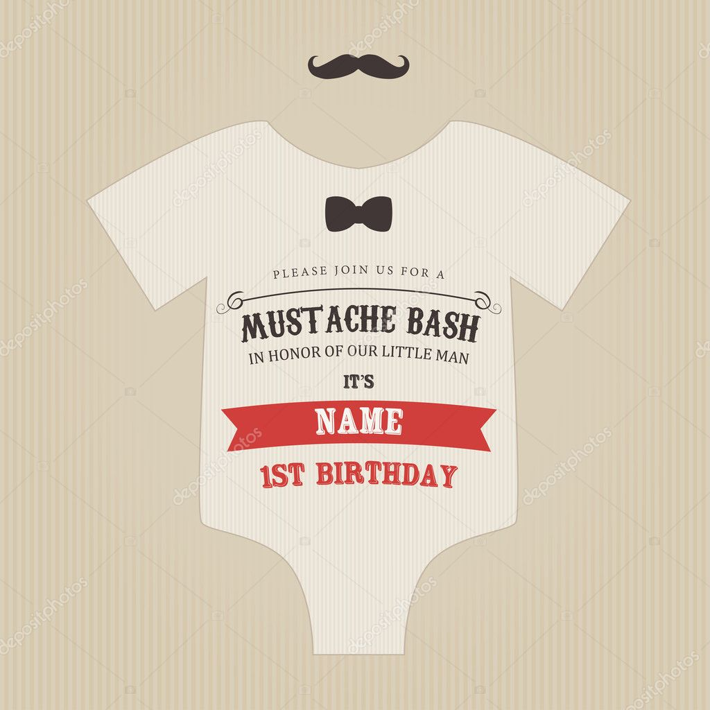 Bash Invitations Moustache Bash Invitation