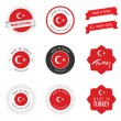 Made in Turkey labels, badges and stickers — Stock Vector