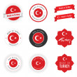 Made in Turkey labels, badges and stickers — Векторная иллюстрация