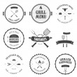 Vector de stock : Restaurant menu design elements set