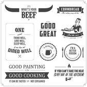 Set di elementi progettazione menu ristorante — Vettoriale Stock