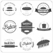 Stock vektor: Set of bakery labels and design elements