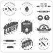Set of bakery labels and design elements — Stock Vector