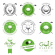 Set of golf club labels and emblems — Vettoriali Stock