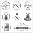 Set of bakery labels, badges and design elements — Stock Vector