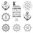 Stock Vector: Set of nautical labels, icons and design elements