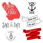 Wedding invitation typographic design elements — Stock Vector