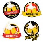 Set of Oktoberfest labels, badges and menu elements — Stock Vector #30089199