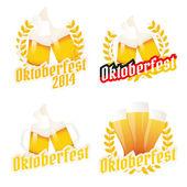 Set of Oktoberfest labels, badges and menu elements — Stock Vector
