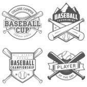 野球ラベルおよびバッジのセット — ストックベクタ