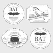 Funny Halloween potion labels — Stock Vector