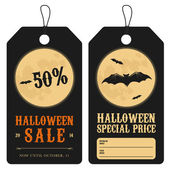 Halloween special price tags — Stock Vector