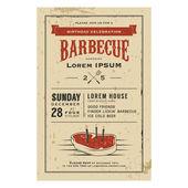 Birthday party barbecue invitation — Stock Vector