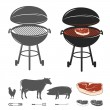 Barbecue elements set — Stockvektor
