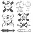 Set of nautical labels, icons and design elements — Stockvectorbeeld