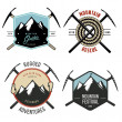 Set of vintage mountain explorer labels and badges — Stock Vector #32664461