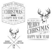 Vintage Christmas design elements set — Stock Vector