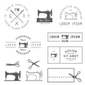 Set of tailor labels, badges and design elements — Stock Vector
